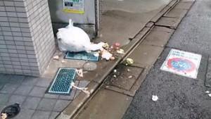 ゴミ置き場のゴミがカラスに荒らされる