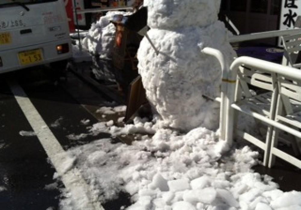 大雪翌日の管理業務